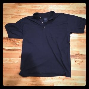 Gildan Navy Polo Shirt NWOT Large golf tennis gap
